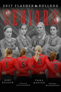 FHS 2017 Senior Volleyball players